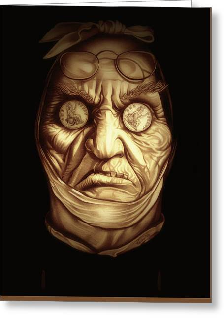 Jacob Marley Greeting Card by Fred Larucci