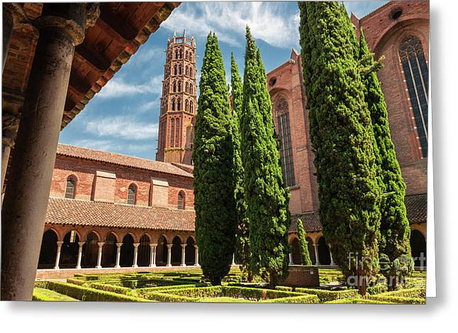 Greeting Card featuring the photograph Jacobin Convent In Toulouse by Elena Elisseeva