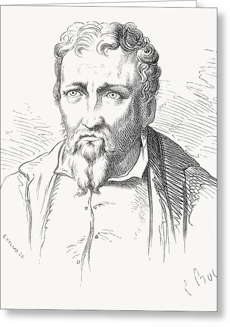 Jacopo Carucci, 1494 Greeting Card