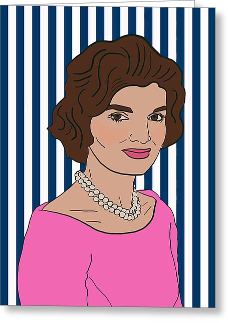 Jacqueline Kennedy Onassis Greeting Card by Nicole Wilson