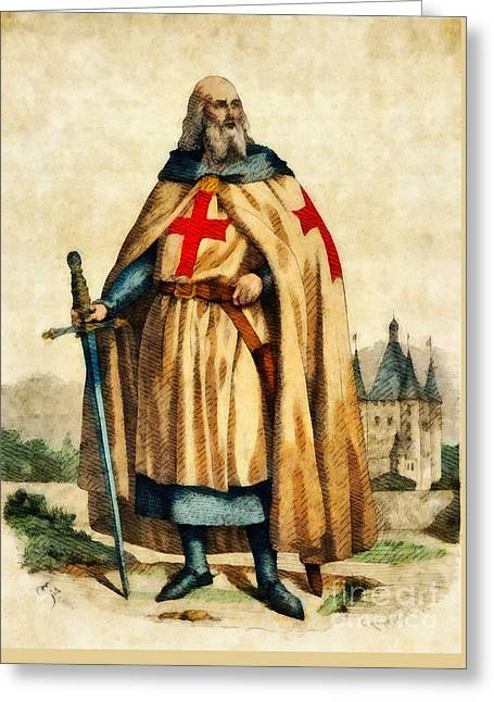 Jacques De Molay, Last Grand Master Of The Knights Templar Greeting Card