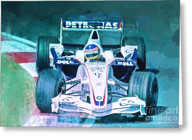 Jacques Villeneuve 2006 Bmw Sauber F1 Greeting Card