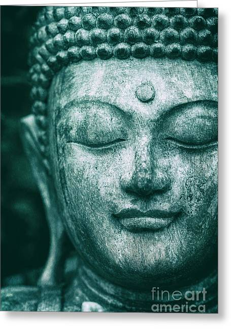Jade Buddha Greeting Card by Tim Gainey