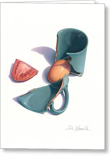 Jade Cup Greeting Card by Donna Basile