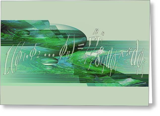 Jade Enigma Greeting Card