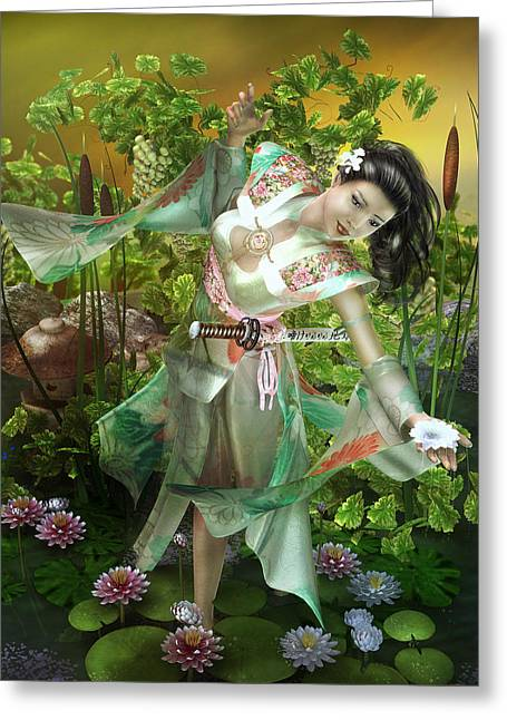 Jade Greeting Card by Mary Hood