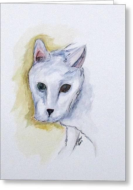 Jade The Cat Greeting Card