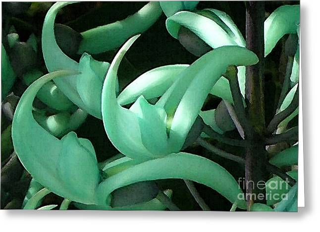 Jade Vine Greeting Card by James Temple
