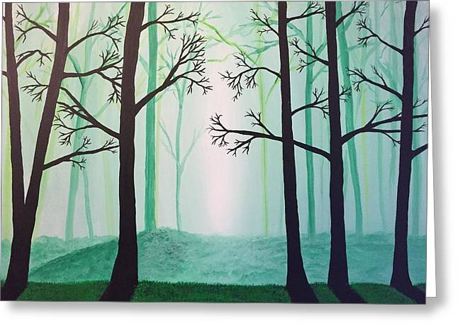 Jaded Forest Greeting Card