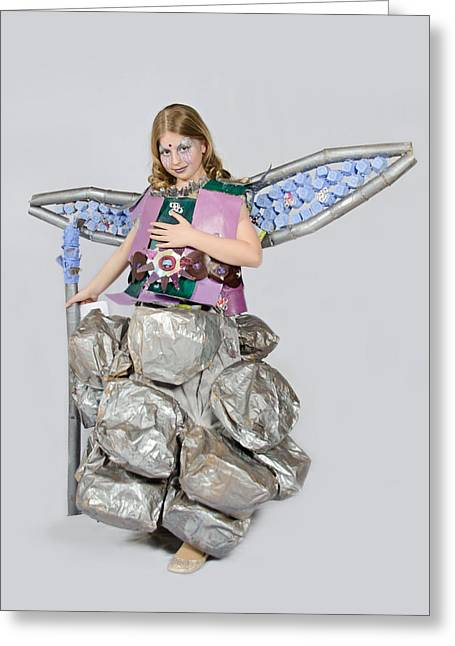 Jaeda In Techno Fairy Greeting Card