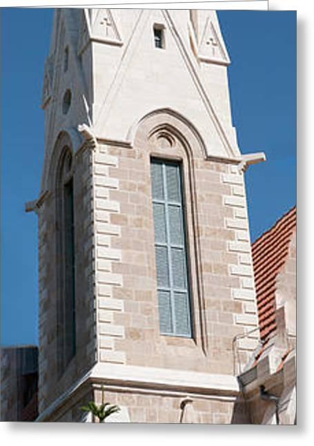 Jaffa, Exterior Of The Immanuel Lutheran Church Greeting Card by Ilan Rosen