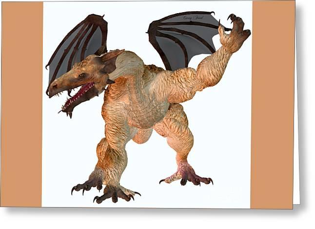 Jag Dragon Greeting Card by Corey Ford