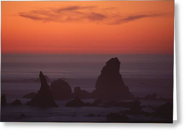 Jagged Offshore Rocks  Greeting Card