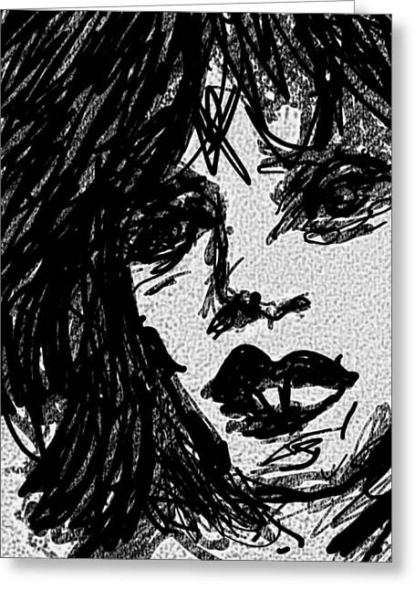 Jagger /1 Greeting Card by Chrisy West