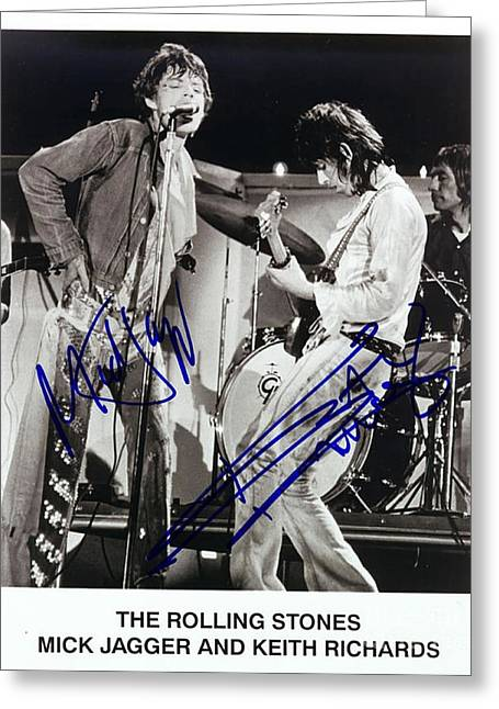 Jagger And Richards Greeting Card by Pd