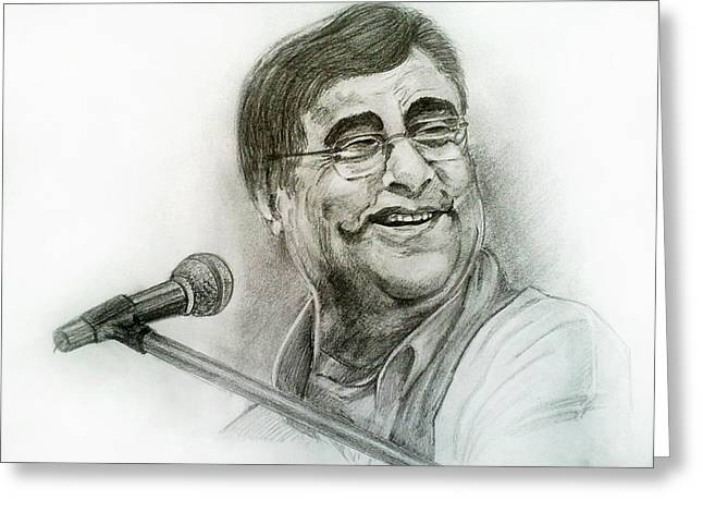 Jagjit Singh Greeting Card by Mayur Sharma