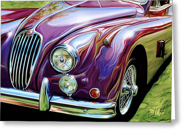 English Car Greeting Cards - Jaguar 140 Coupe Greeting Card by David Kyte