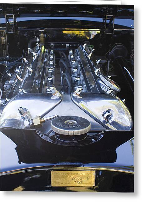 Jaguar 3.4l Greeting Card by Alan Raasch
