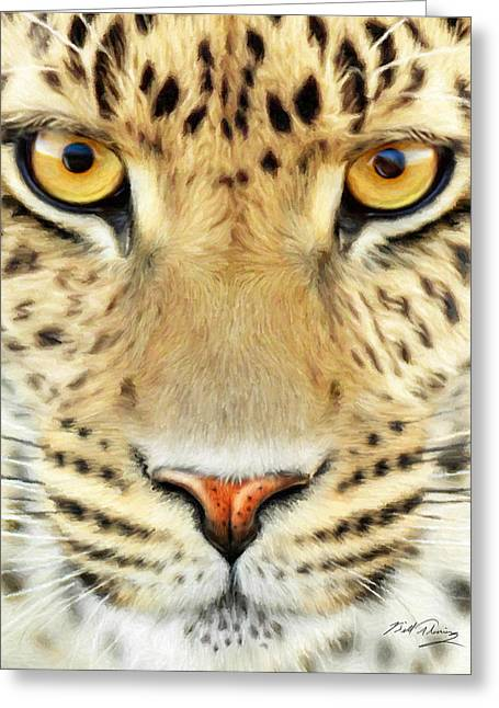 Jaguar Greeting Card by Bill Fleming