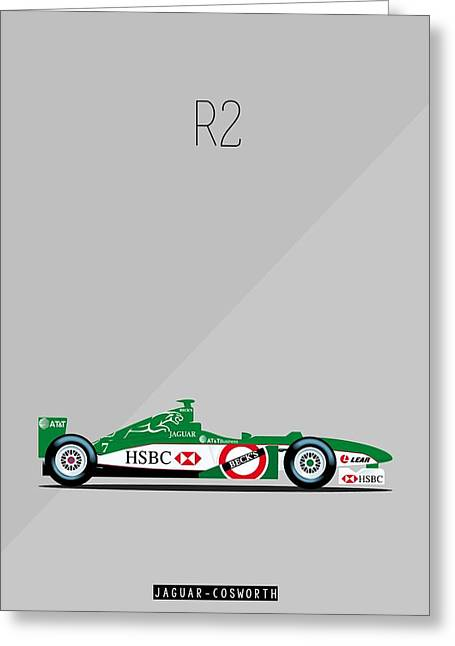 Jaguar Cosworth R2 F1 Poster Greeting Card by Beautify My Walls