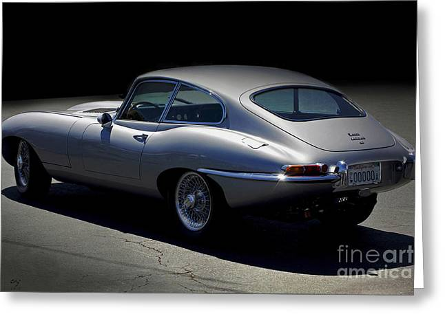 Jaguar E-type Nocturne Greeting Card by Curt Johnson