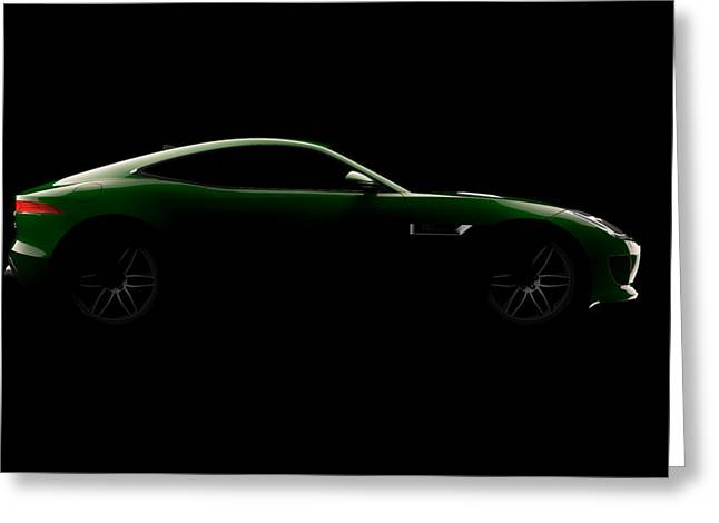 Jaguar F-type - Side View Greeting Card