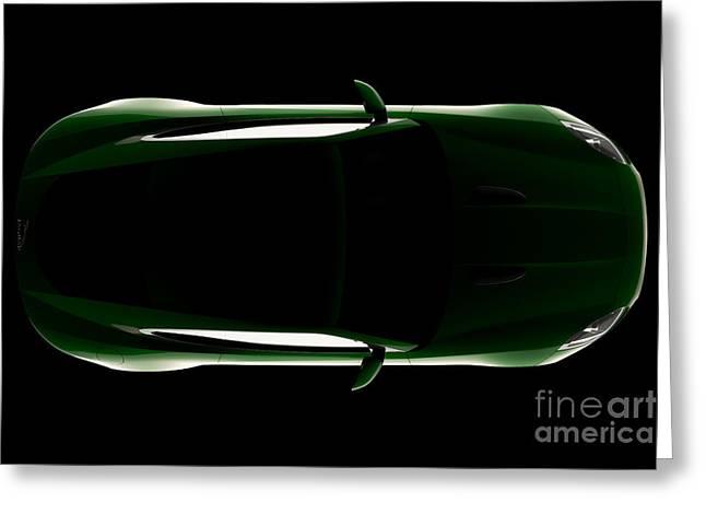 Jaguar F-type - Top View Greeting Card