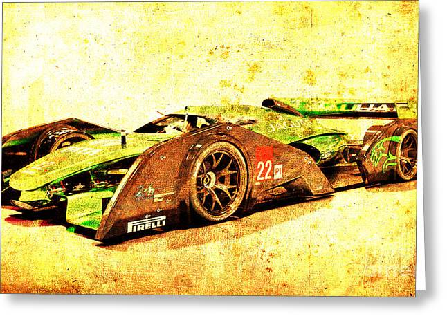 Jaguar Le Mans 2015, Race Car, Fast Car, Gift For Men Greeting Card by Pablo Franchi