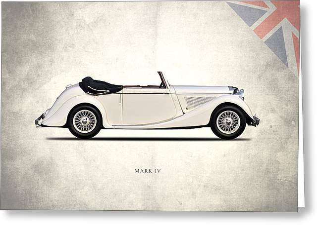 Jaguar Mark Iv Coupe Greeting Card by Mark Rogan