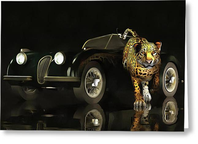 Jaguar Mk 3 Greeting Card