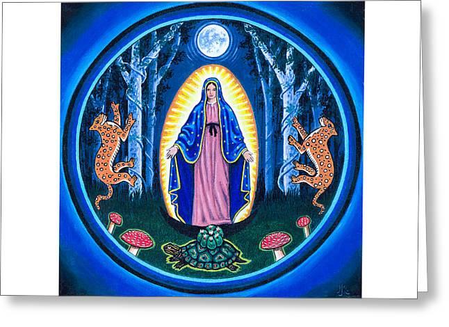 Jaguar Moon Greeting Card by James Roderick