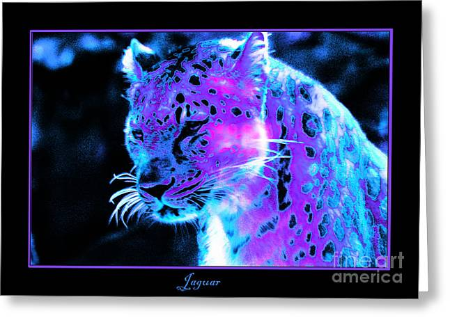 Jaguars Digital Greeting Cards - Jaguar  Greeting Card by Nick Gustafson