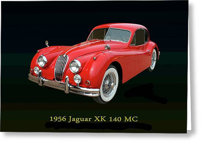 Jaguar X K 140 M C 1956 Greeting Card by Jack Pumphrey