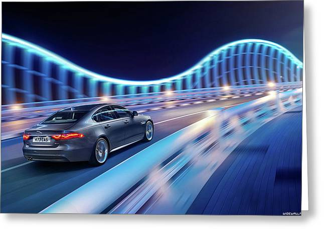 Jaguar Xf R Sport 2015 1920x1200 011 Greeting Card
