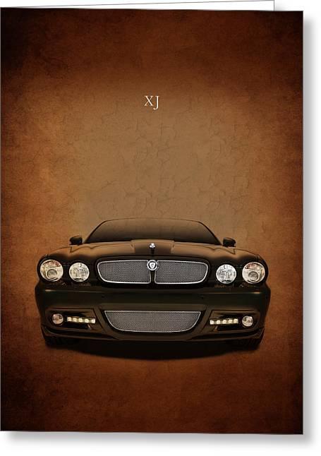 Jaguar Xj Greeting Card by Mark Rogan