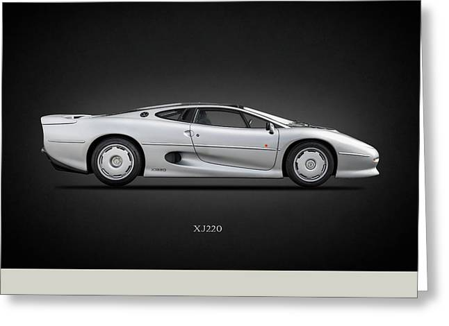 Jaguar Xj220 1992 Greeting Card by Mark Rogan