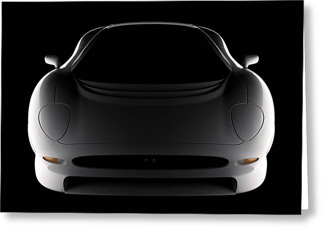Jaguar Xj220 - Front View Greeting Card
