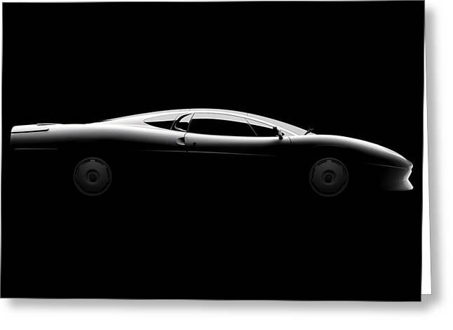 Jaguar Xj220 - Side View Greeting Card