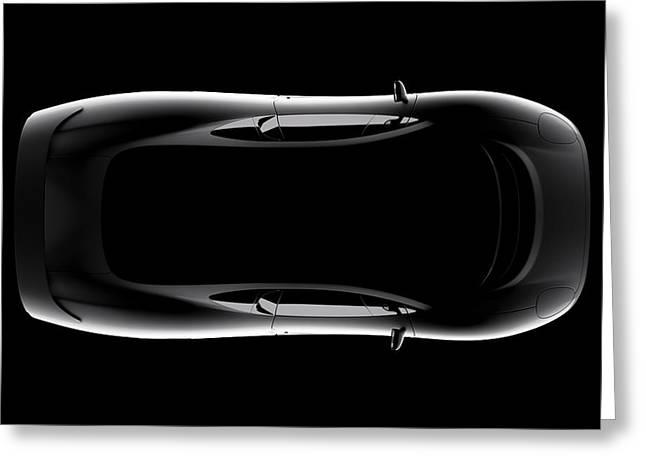 Jaguar Xj220 - Top View Greeting Card