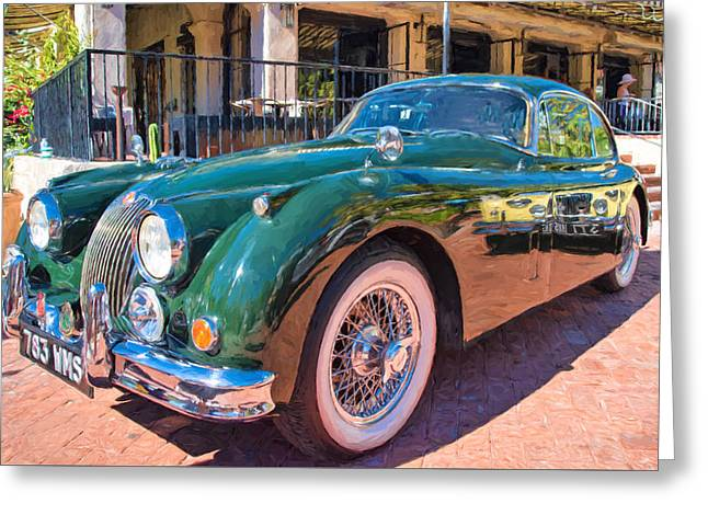 Greeting Card featuring the photograph Jaguar Xk Classic by Dan McManus