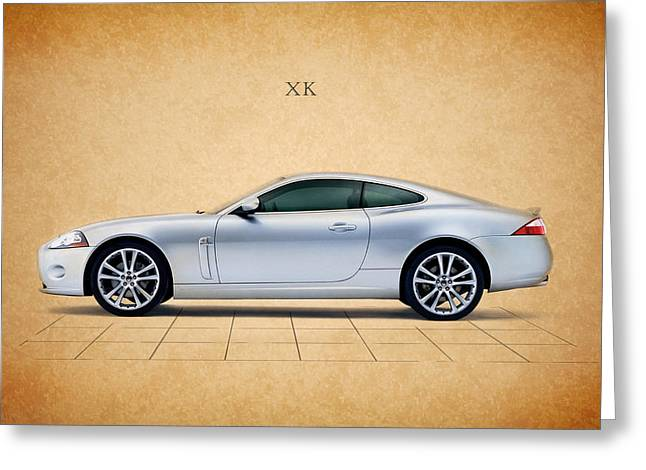 Jaguar Xk Greeting Card by Mark Rogan