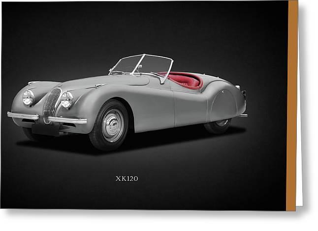 Jaguar Xk120 Greeting Card by Mark Rogan