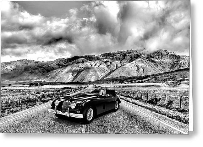 Jaguar Xk150 1960 Greeting Card by Mark Rogan