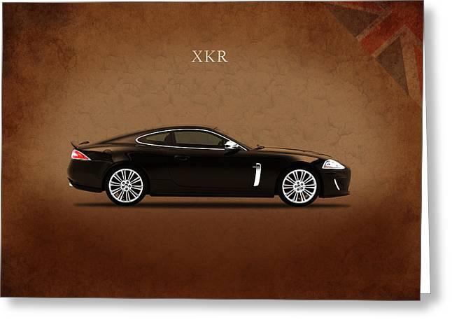 Jaguar Xkr Greeting Card by Mark Rogan