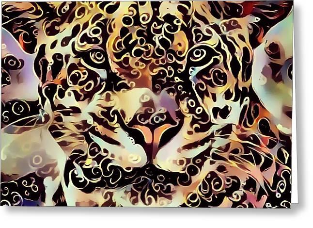 Jaguar Greeting Card by Yury Malkov