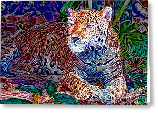 Jaguar Greeting Card by Zedi