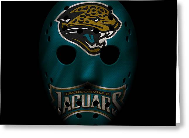 Jaguars War Mask Greeting Card by Joe Hamilton