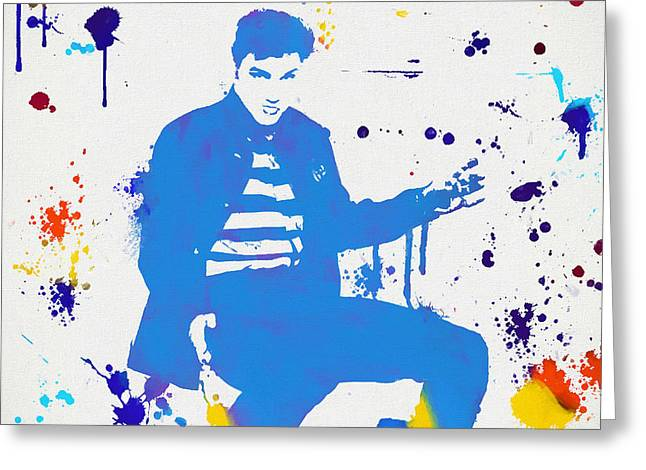 Jailhouse Rock Paint Splatter Greeting Card by Dan Sproul