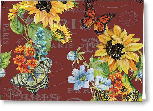 Greeting Card featuring the painting Jaime Mon Jardin-jp3988 by Jean Plout