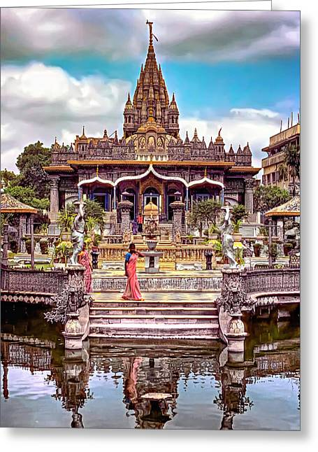 Jain Temple - Paint Greeting Card by Steve Harrington